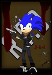 RPD Officer Sonic T. Hedgehog by SL-Wind