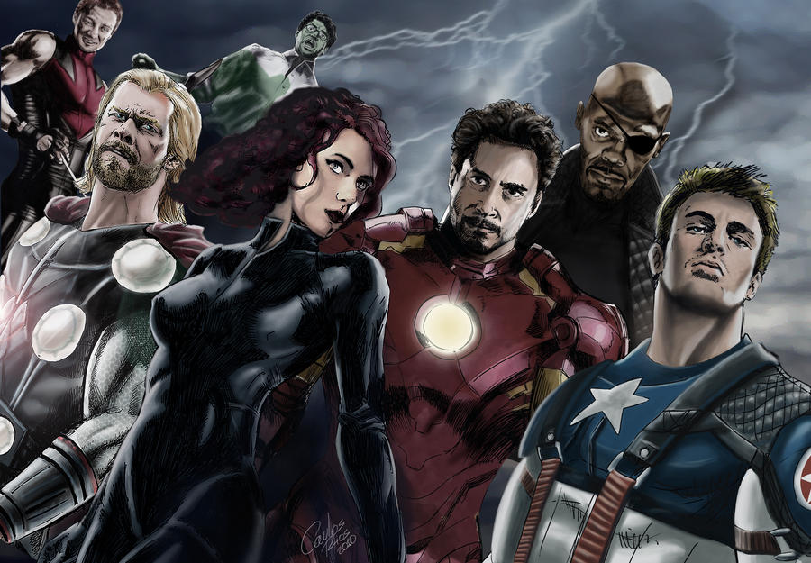 avengers splash page by charlyrivers