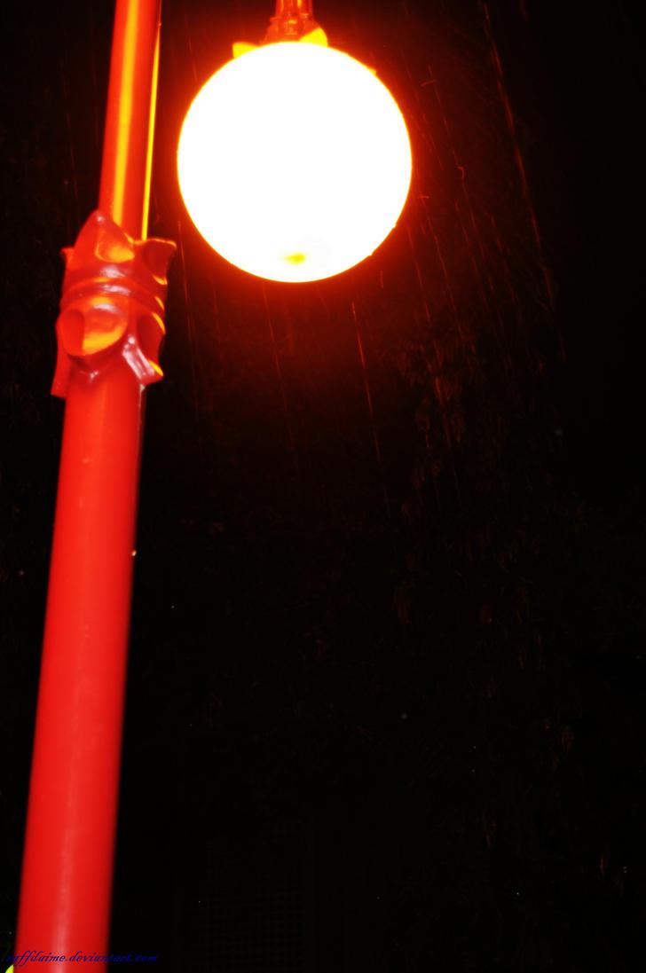 Light on Rain by raffdaime