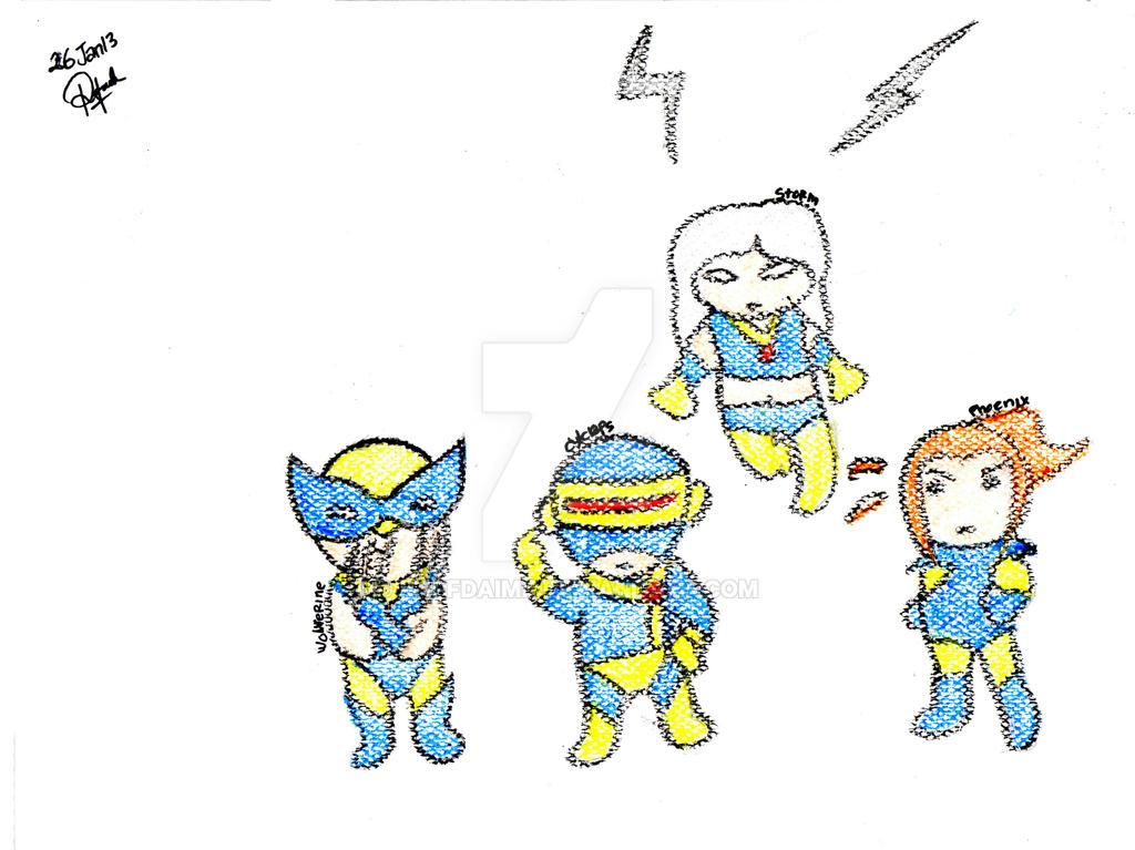 The X-men by raffdaime