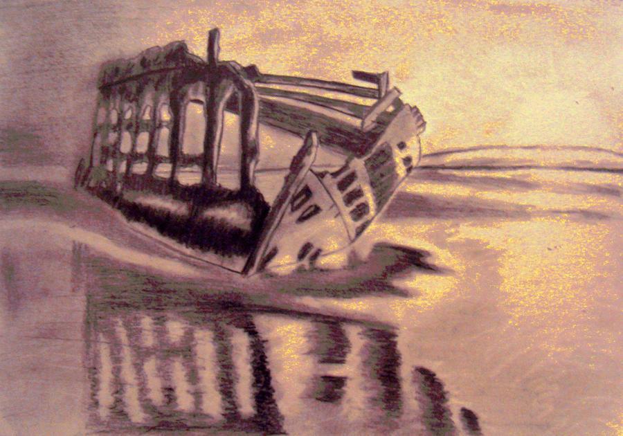 Shipwreck Sunset Colour manipulated by Ultimaodin