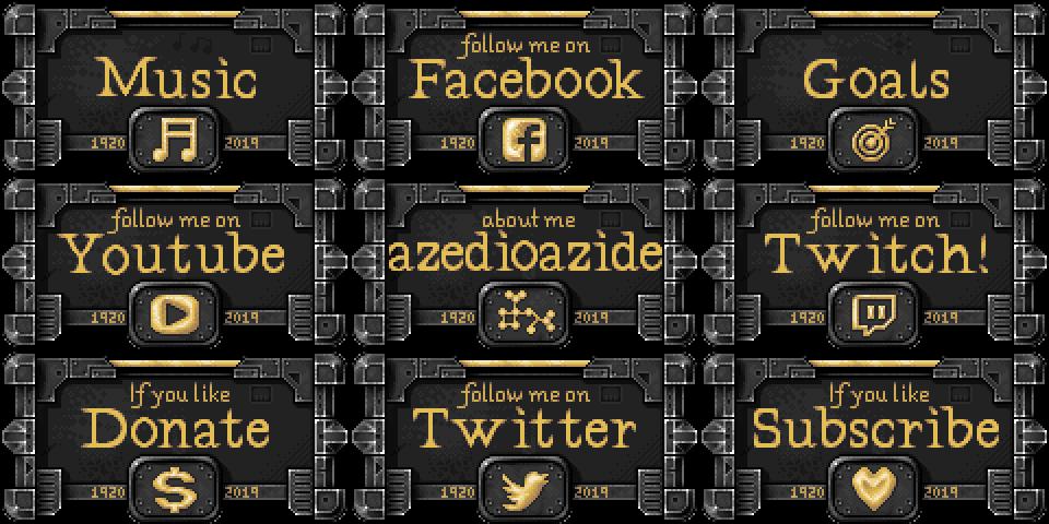 Twitch buttons forAzedioAzide by Ultimaodin