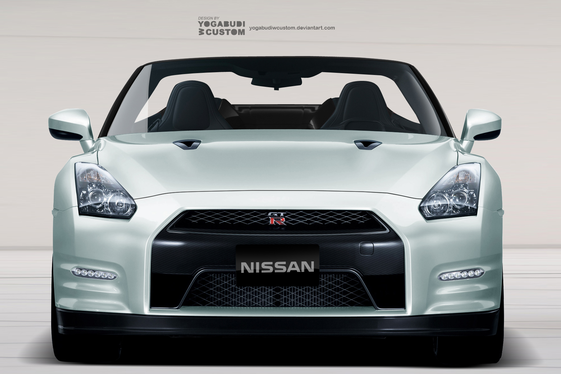 Nissan GTR Convertible - Front View by YogaBudiwCUSTOM