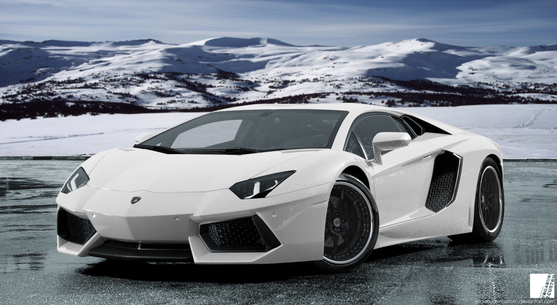 Lamborghini Aventador LP 700-4 White by YogaBudiwCUSTOM