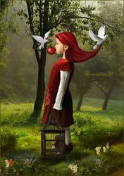 Red ballon... by moonchild-ljilja