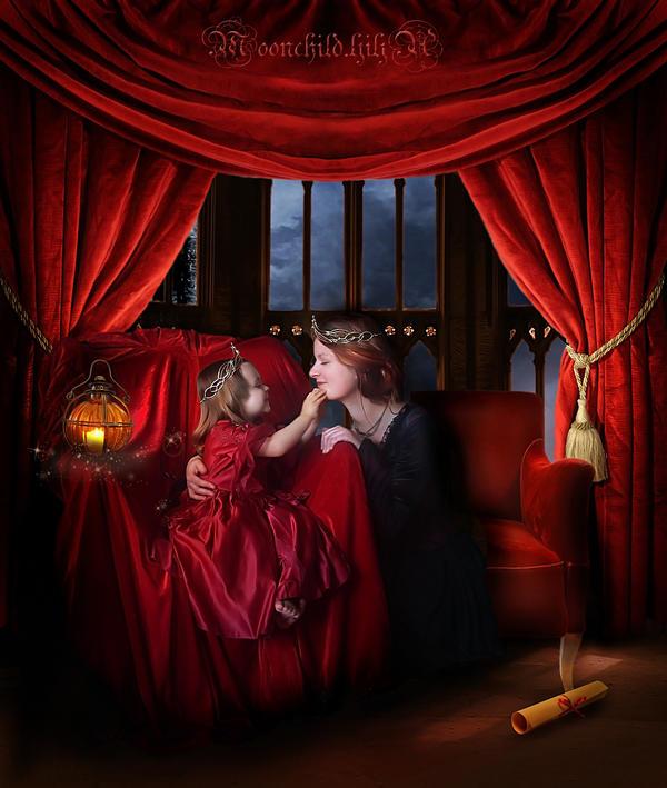 Queen and her daughter... by moonchild-ljilja