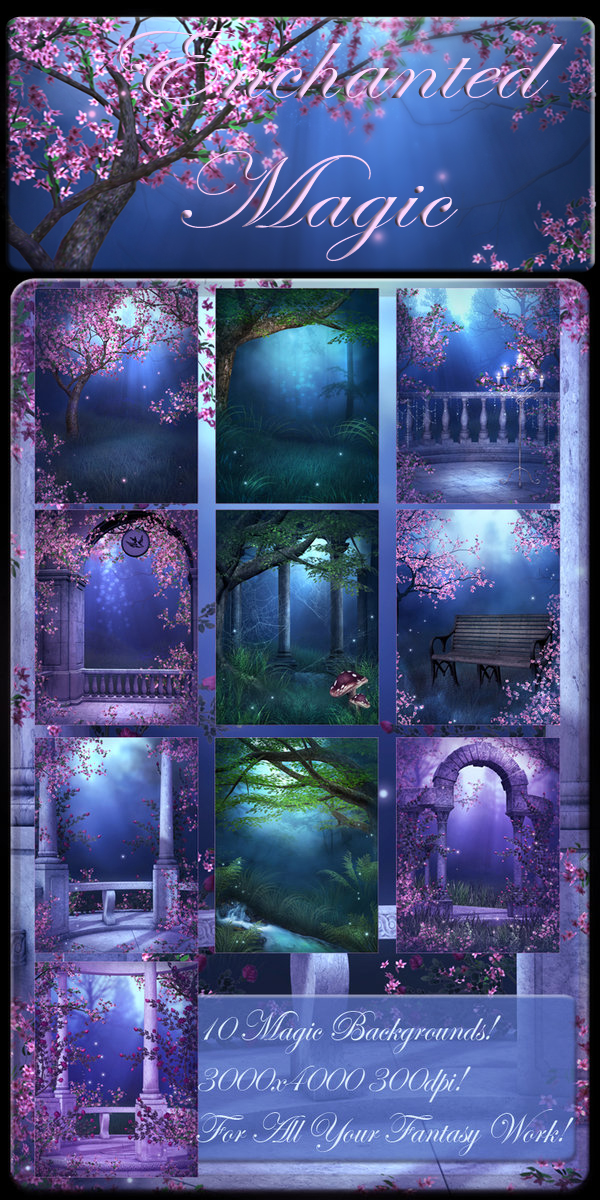 Enchanted Magic backgrounds by moonchild-ljilja