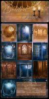 Golden Blue backgrounds..
