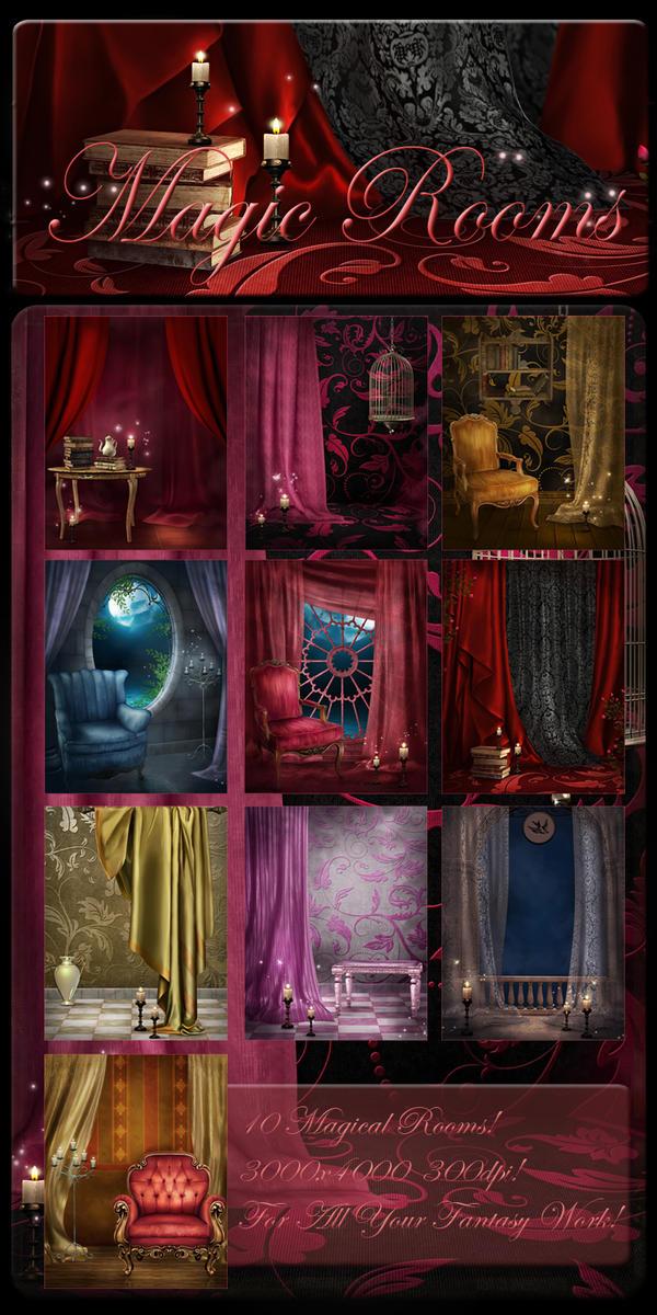 Magic Rooms backgrounds by moonchild-ljilja