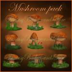 Mushrooms 3d