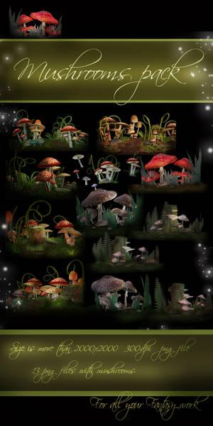 Mushrooms pack