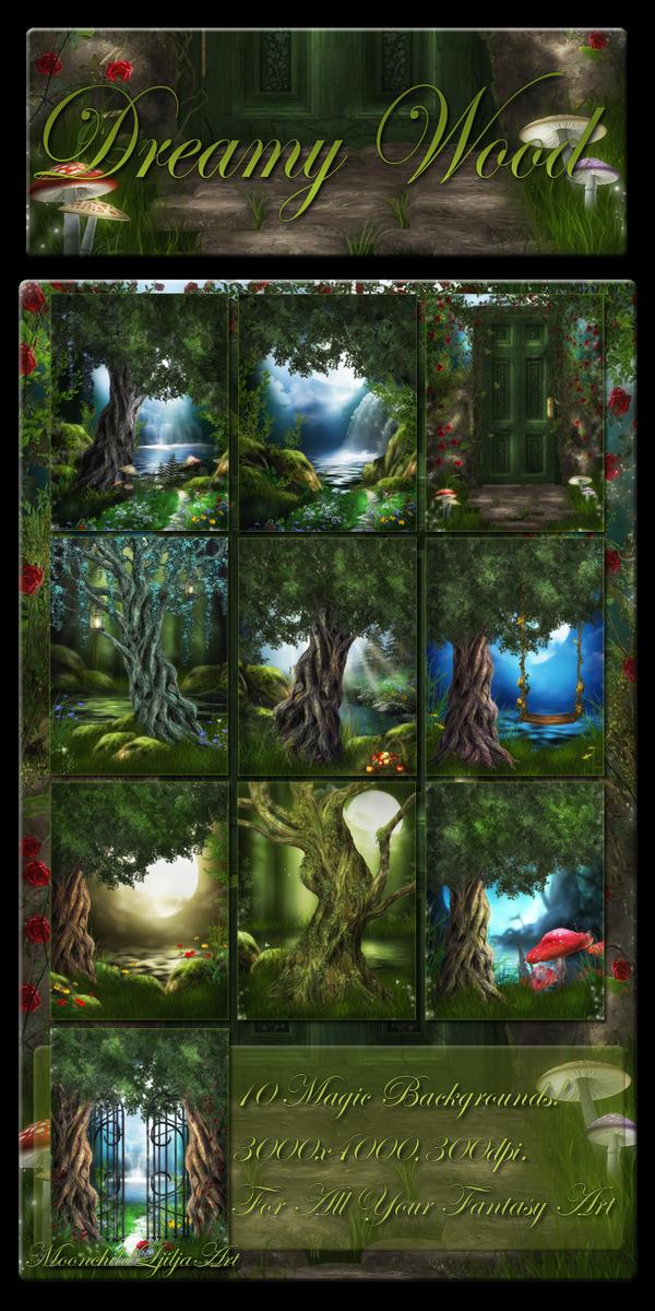 Dreamy Wood backgrounds by moonchild-ljilja