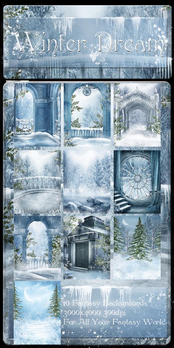 Winter Dream backgrounds by moonchild-ljilja