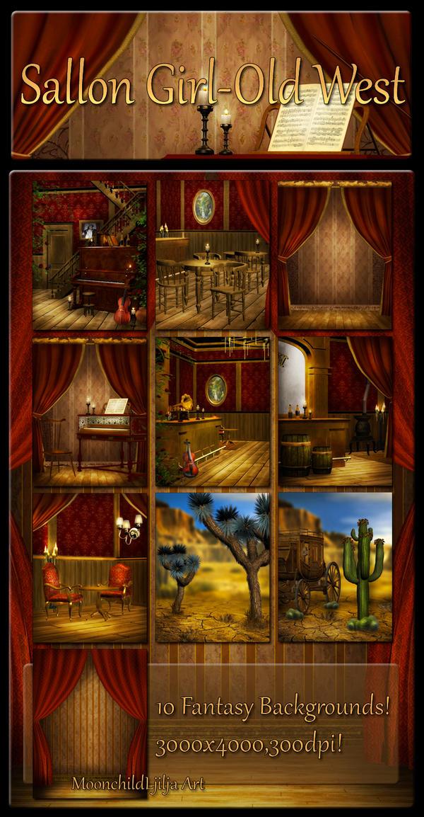 Saloon Girl-Old West pack by moonchild-ljilja
