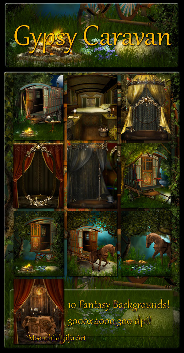 Gypsy Caravan backgrounds by moonchild-ljilja on DeviantArt