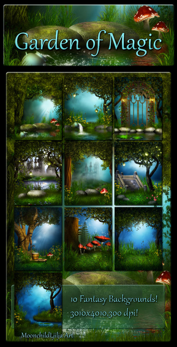 Garden Of Magic backgrounds by moonchild-ljilja