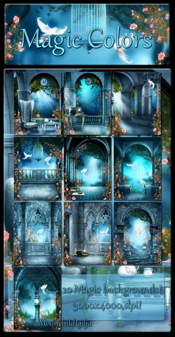 Magic Colors backgrounds by moonchild-ljilja