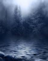 Dark Foggy River background
