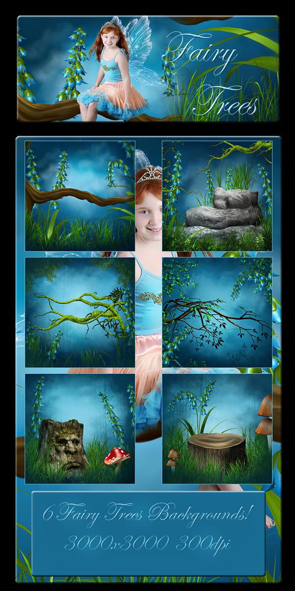 Fairy Trees 2 backgrounds by moonchild-ljilja
