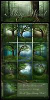 Misty Wood backgrounds