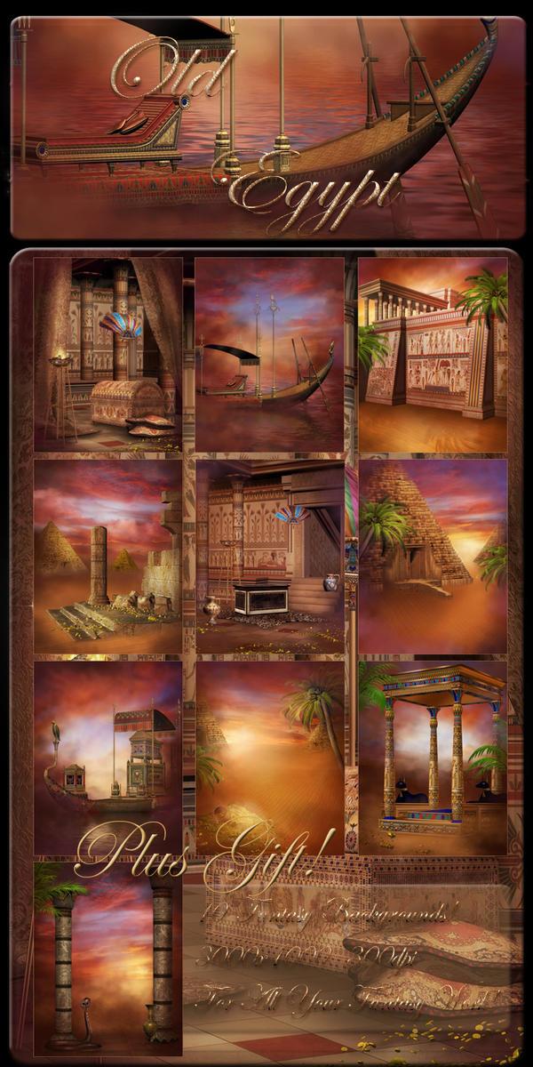 Old Egypt backgrounds by moonchild-ljilja