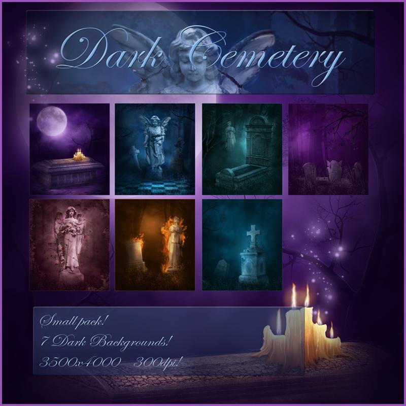 Dark Cemetery Backgrounds by moonchild-ljilja