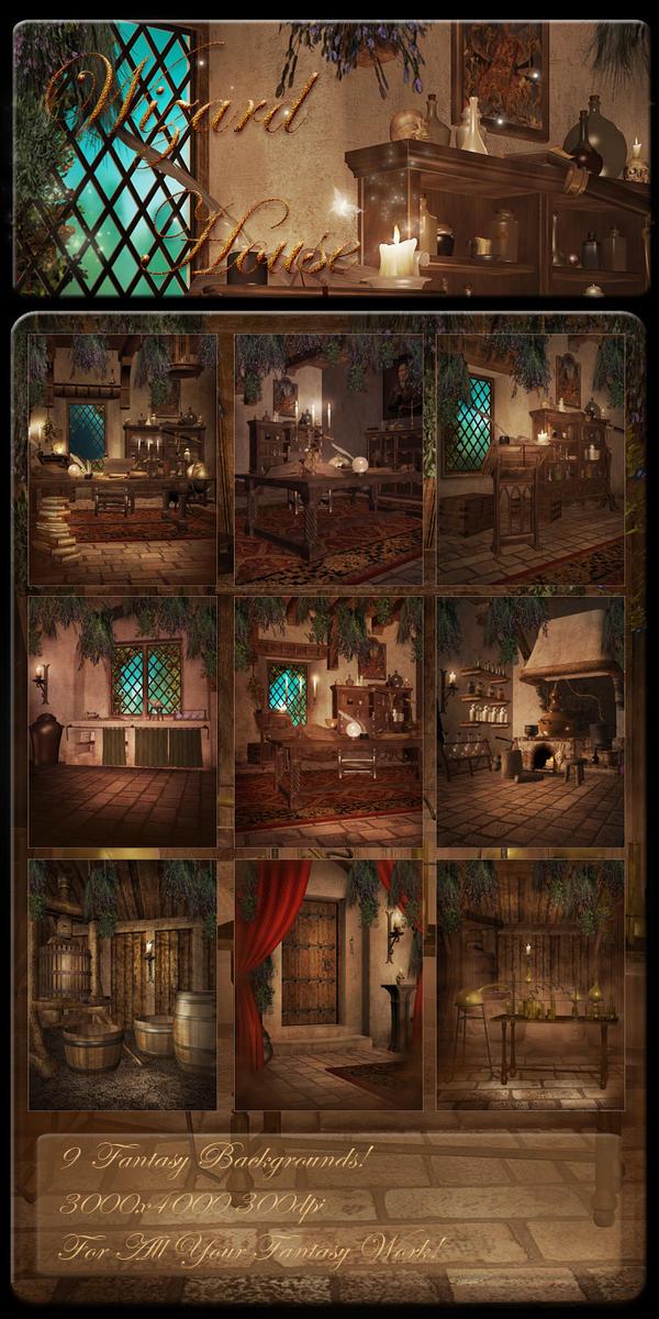 Wizard House backgrounds by moonchild-ljilja