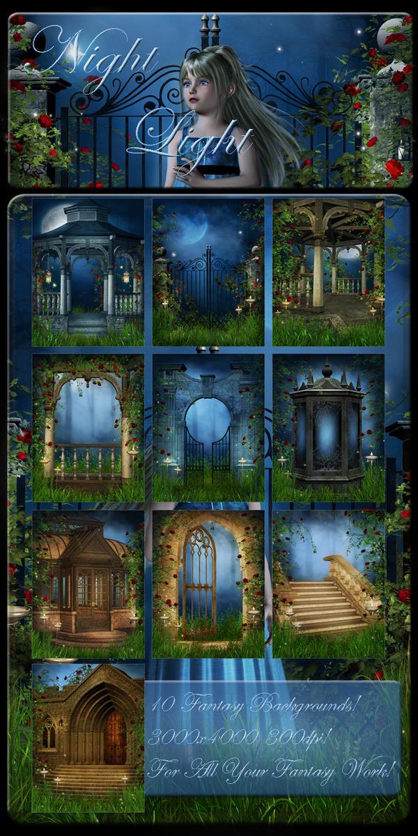 Night Light backgrounds by moonchild-ljilja