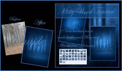 Tutorial Misty Dark Wood by moonchild-ljilja