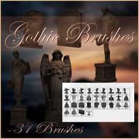 Gothic Brushes by moonchild-ljilja