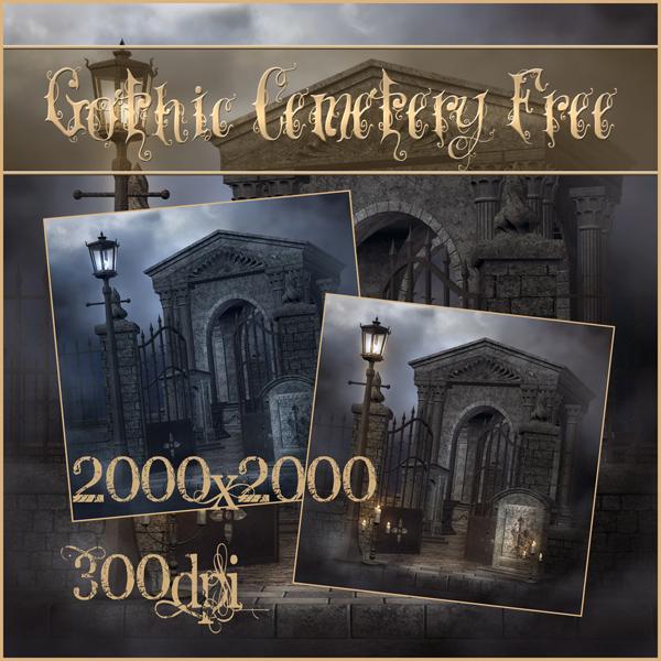 Gothic Cemetery Free by moonchild-ljilja