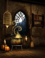 Halloween Eve free background by moonchild-ljilja
