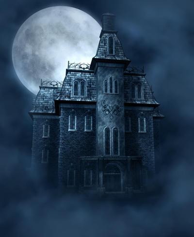 Haunted House free background by moonchild-ljilja