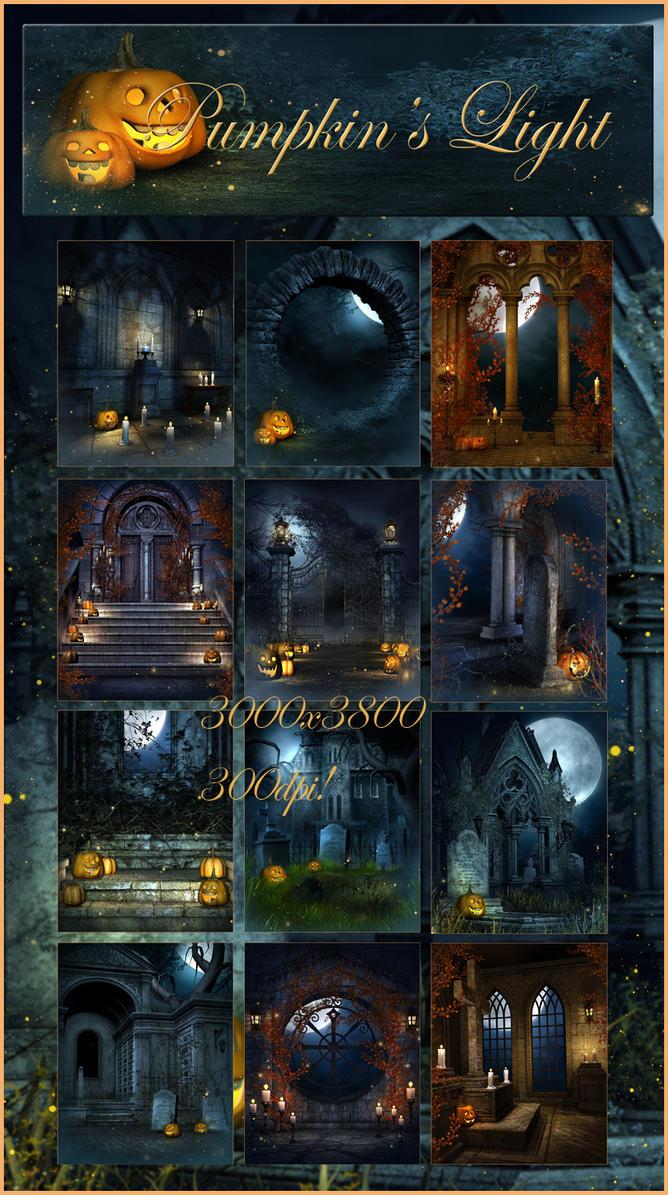 Pumpkin's LIght Backgrounds by moonchild-ljilja