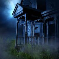 Haunted House 2 background by moonchild-ljilja