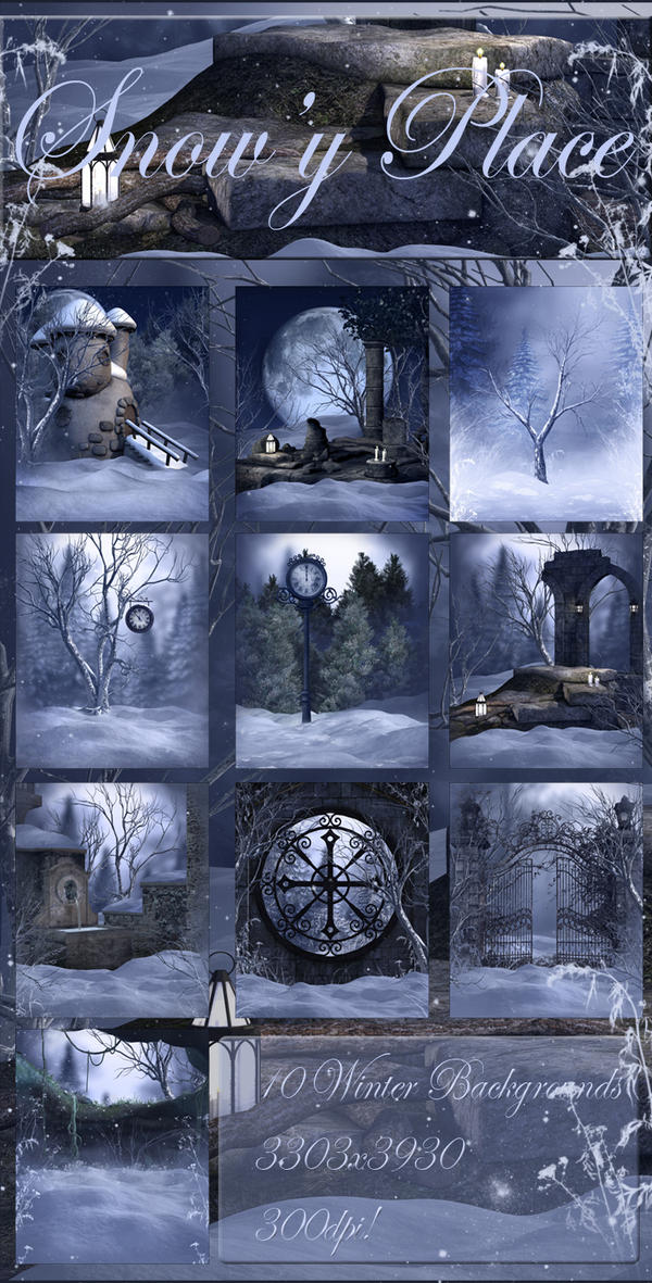 Snowy Place backgrounds by moonchild-ljilja