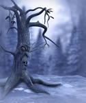 Winter Scary Tree