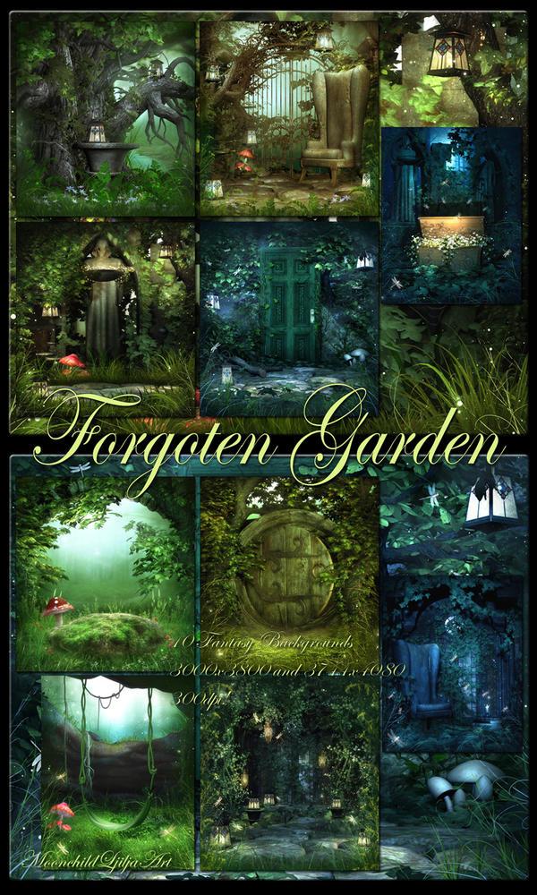 Forgoten Garden  Backgrounds by moonchild-ljilja