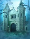 Misty Castle Free background
