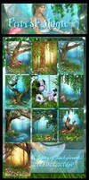 Forest Magic backgrounds