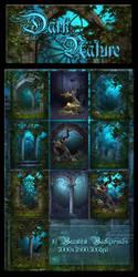 Dark Nature backgrounds by moonchild-ljilja