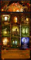 Spring Magic backgrounds by moonchild-ljilja