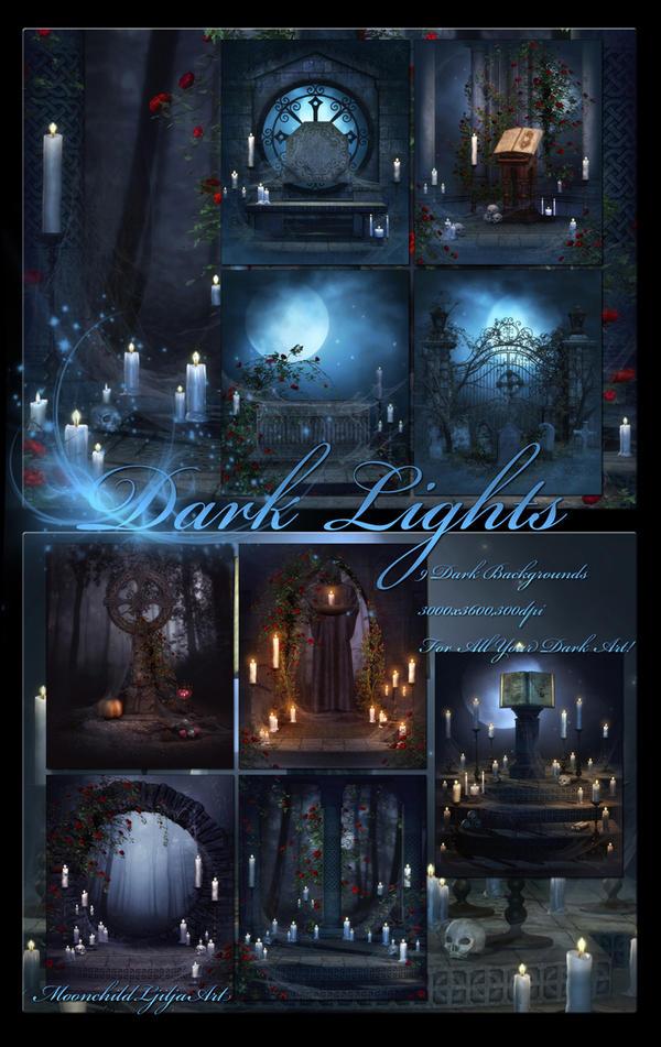 Dark Lights backgrounds by moonchild-ljilja