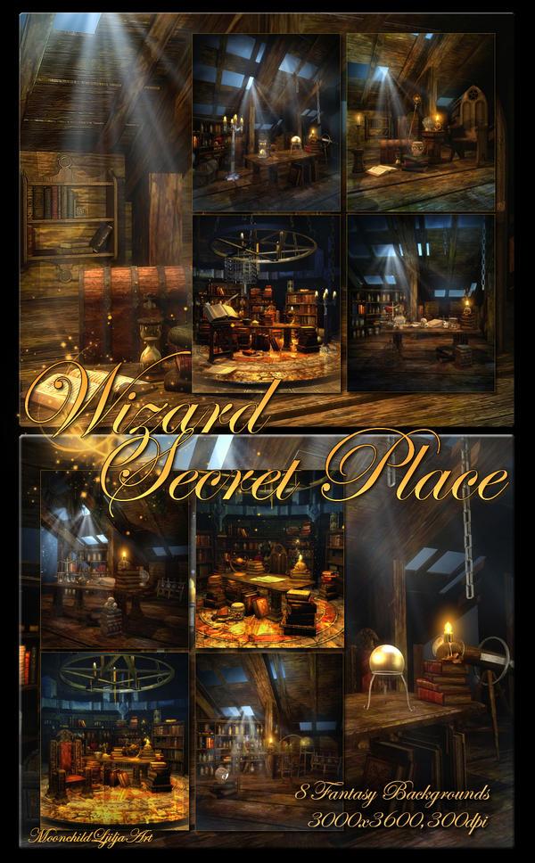 Wizard Secret Place backgrounds by moonchild-ljilja