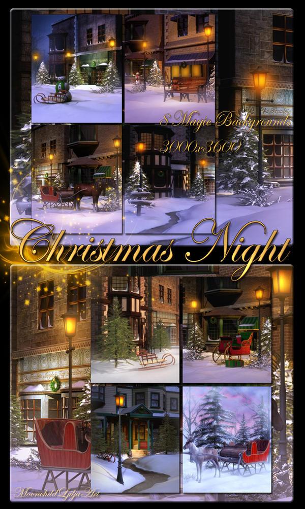 Christmas Night Backgrounds by moonchild-ljilja