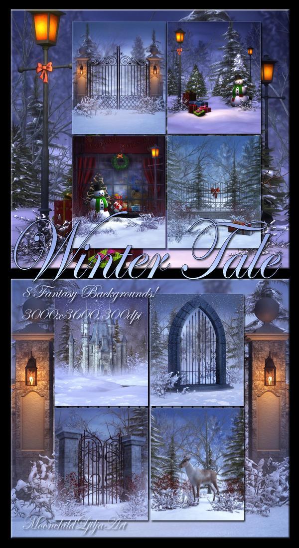 Winter Tale Backgrounds by moonchild-ljilja