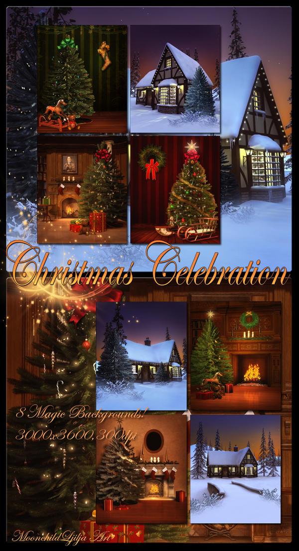 Christmas Celebration backgrounds by moonchild-ljilja