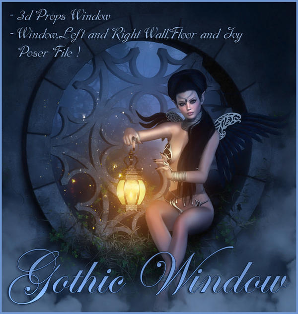 Gothic Window by moonchild-ljilja