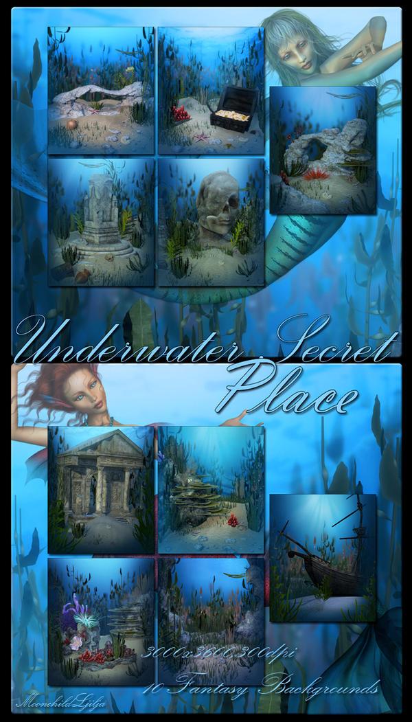 Underwater Secret Place backgrounds by moonchild-ljilja