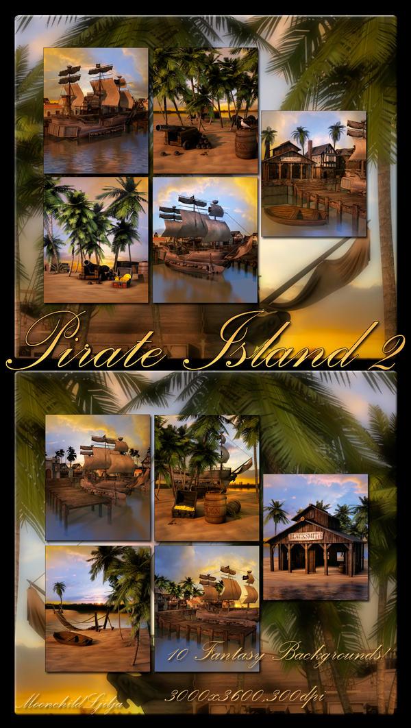 Pirate Island 2 backgrounds by moonchild-ljilja